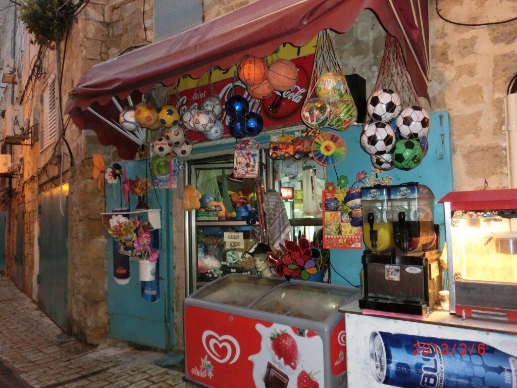 アッコー旧市街の売店