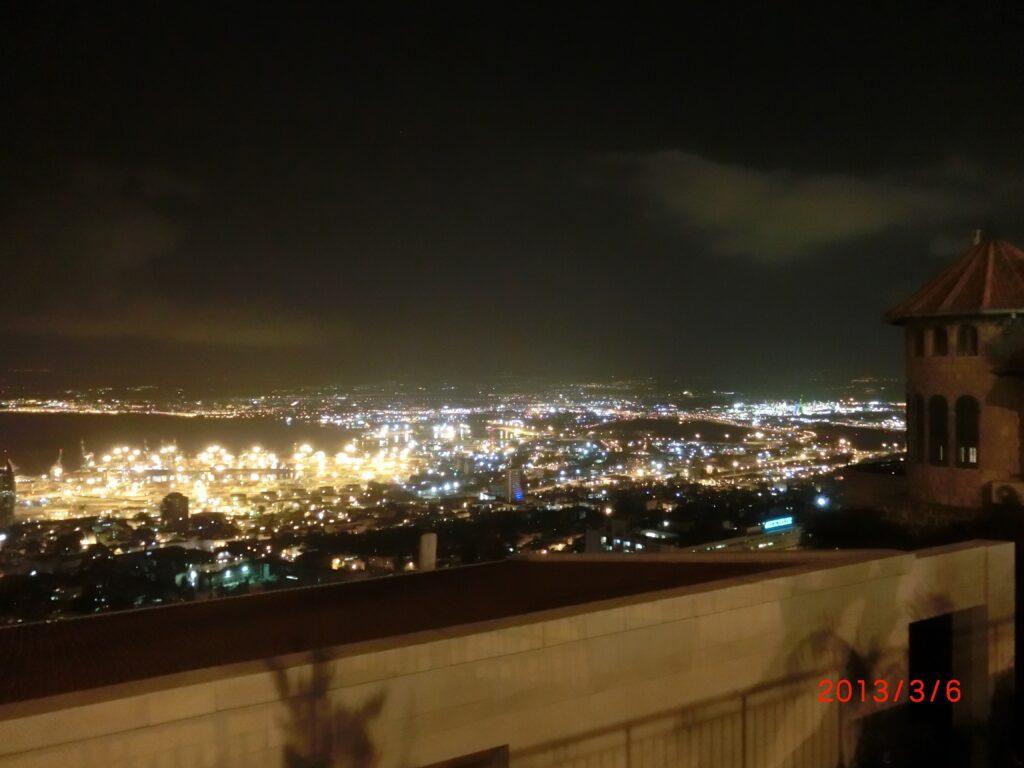 イスラエル第3の都市「ハイファ」の夜景