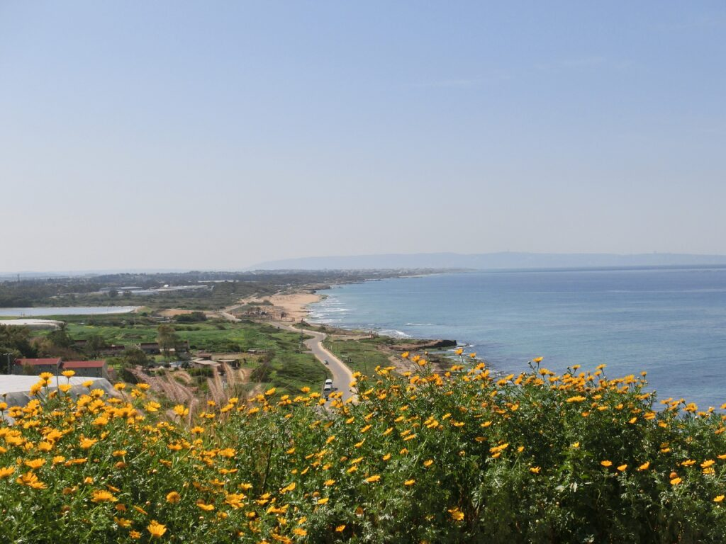ローシュ・ハ・ニクラ近郊。イスラエル北部は草木も生え、気候は穏やか。
