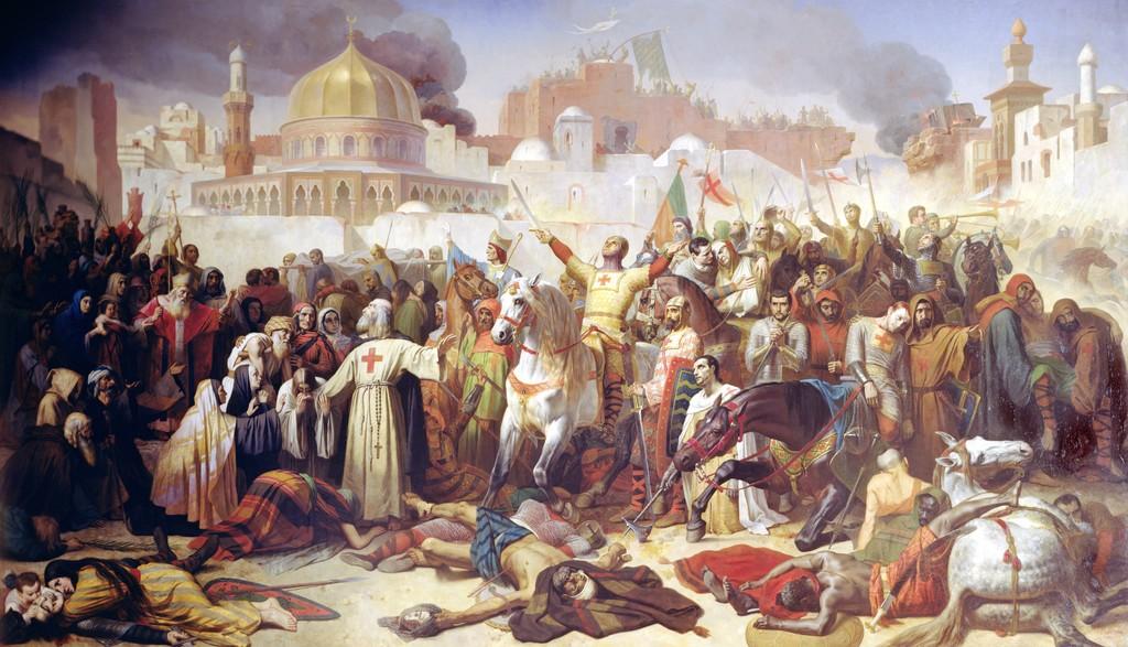 十字軍によりエルサレムが陥落した様子。