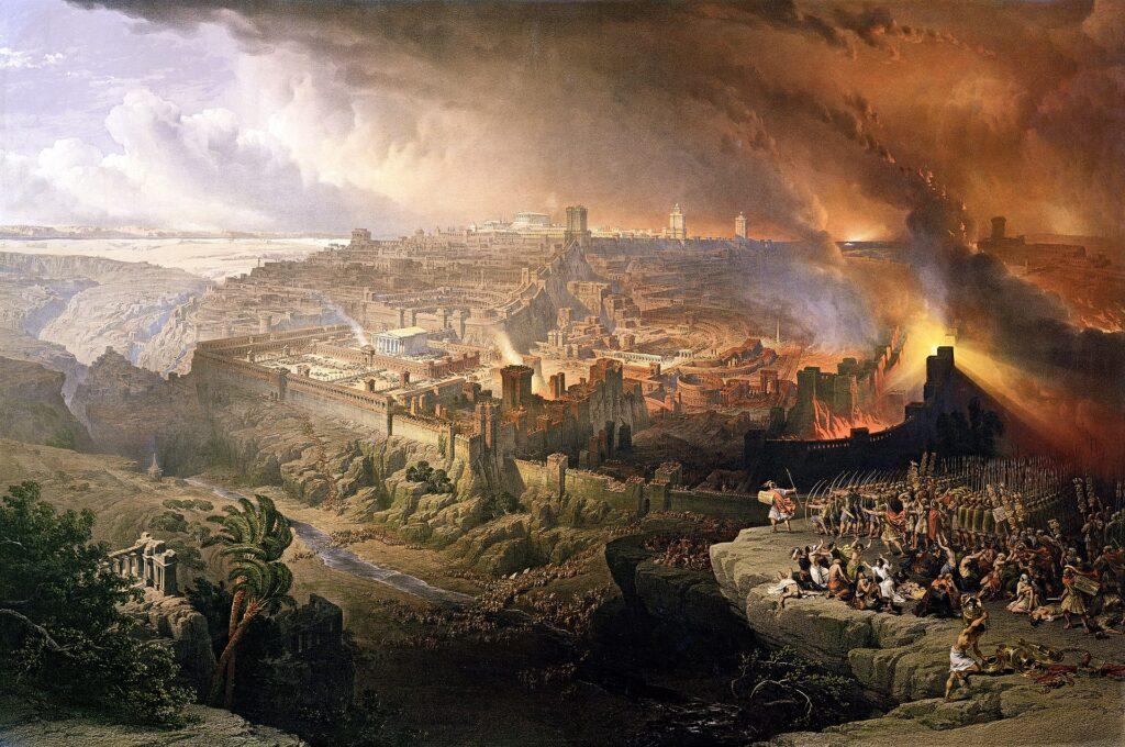 西暦70年にエルサレムを巡って起こった攻城戦。