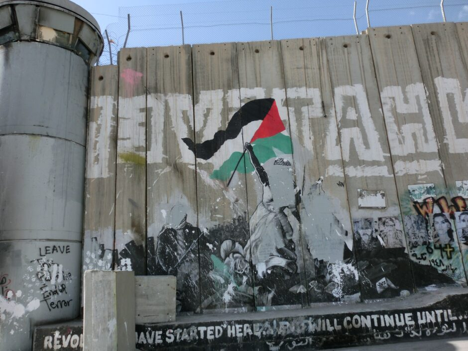 民衆を導く自由の女神のパレスチナ版。